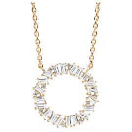 Sif Jakobs Jewellery SJ-C0163-CZ(YG) Damen-Halskette Antelle Circolo Grande