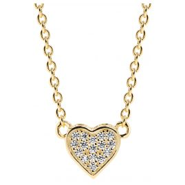 Sif Jakobs Jewellery SJ-C2185-CZ(YG) Halskette Herz-Anhänger Amore Uno