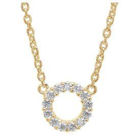 Sif Jakobs Jewellery SJ-C337(1)-CZ(YG) Halskette Biella Piccolo