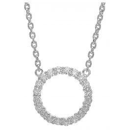 Sif Jakobs Jewellery SJ-C338(1)-CZ Silber-Halskette Biella Grande