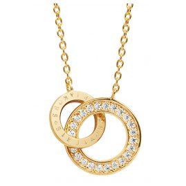Sif Jakobs Jewellery SJ-C472-CZ(YG) Halskette Prato Uno Piccolo
