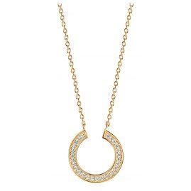 Sif Jakobs Jewellery SJ-C1051-CZ(YG) Damen Damen-Halskette Valiano Circolo Silber Vergoldet