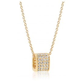 Sif Jakobs Jewellery SJ-P1034-CZ(YG)/45 Halskette Matera Silber Vergoldet
