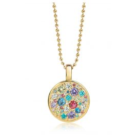Sif Jakobs Jewellery SJ-P1036-XCZ(YG)/70 Silber Damencollier Novara Vergoldet