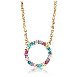 Sif Jakobs Jewellery SJ-C338(1)-XCZ(YG) Damen-Silberkette Biella Grande Vergoldet