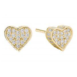 Sif Jakobs Jewellery SJ-E2185-CZ(YG) Ohrringe Herz Amore