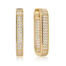 Sif Jakobs Jewellery SJ-E1064-CZ(YG) Ohrringe Matera Grande Silber Vergoldet