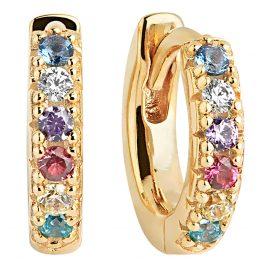 Sif Jakobs Jewellery SJ-E1066-XCZ(YG) Ohrringe Creolen Ellera Piccolo