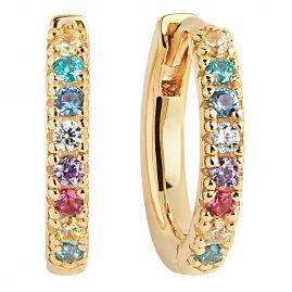Sif Jakobs Jewellery SJ-E2859-XCZ(YG) Hoop Earrings Ellera