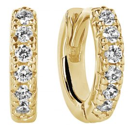 Sif Jakobs Jewellery SJ-E1066-CZ(YG) Hoop Earrings Ellera Piccolo Gold Tone