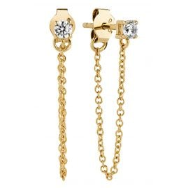 Sif Jakobs Jewellery SJ-E1071-CZ(YG) Ohrstecker Princess Piccolo Lungo