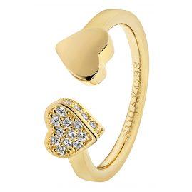 Sif Jakobs Jewellery SJ-R21852-CZ(YG) Damenring Amore Due