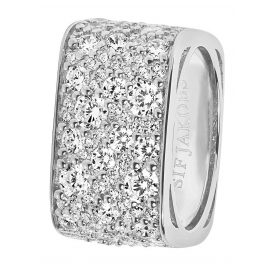 Sif Jakobs Jewellery SJ-R1060-CZ Ladies Ring Novara Quadrato