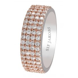 Sif Jakobs Jewellery SJ-R10764-CZ(RG2) Ladies Ring Corte Quattro Rose
