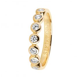 Sif Jakobs Jewellery SJ-R11186-CZ(YG) Ladies' Ring Sardinien Sette Gold-Plated Silver