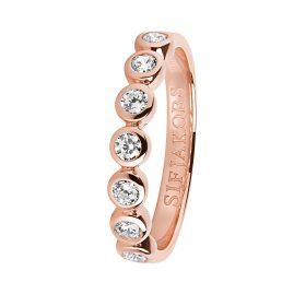 Sif Jakobs Jewellery SJ-R11186-CZ(RG) Ring Sardinien Sette Silber Rosé Vergoldet