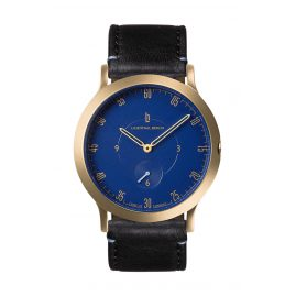Lilienthal Berlin L01-204-B004B Armbanduhr L1 Klein gold/blau/schwarz