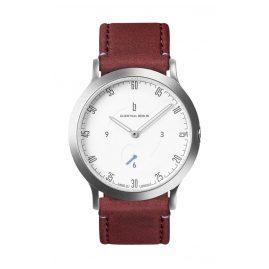 Lilienthal Berlin L01-201-B020A Armbanduhr L1 Klein silber/weiß/amarena