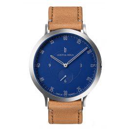 Lilienthal Berlin L01-103-B006A Armbanduhr L1 silber/blau/hellbraun