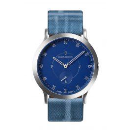 Lilienthal Berlin L01-203-B024A Uhr L1 Klein silber/blau/riverside