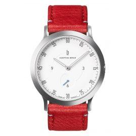 Lilienthal Berlin L01-201-B005A Uhr L1 Klein silber/weiß/rot