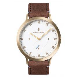 Lilienthal Berlin L01-102 Armbanduhr L1 gold/weiß/braun