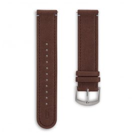 Lilienthal Berlin B002A Leather Strap dark brown/silver