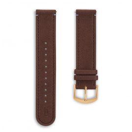 Lilienthal Berlin B002BZ Leather Strap dark brown/gold