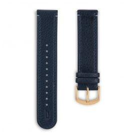 Lilienthal Berlin B003BZ Leather Strap dark blue/gold