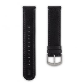 Lilienthal Berlin B004A Leather Strap black/silver