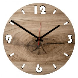 Huamet U5001 Wood Wall Clock Oak Round