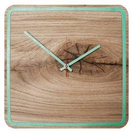 Huamet U5300 Wood Wall Clock Oak Alone