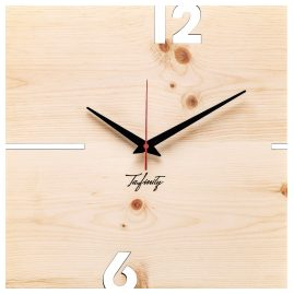 Huamet CT41-A-00 Wall Clock Puhr Pine Wood