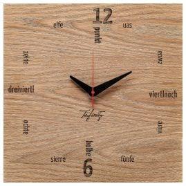 Huamet CA51-A-01 Wall Clock Kultuhr Dialect Oak Wood
