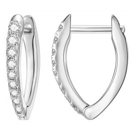 IUN Silver Couture AE006-WW Ohrringe Silber 925 Zirkonia 15 mm