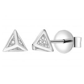 IUN Silver Couture AE013-WW Earrings Silver 925 Cubic Zirconia