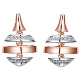 IUN Silver Couture ES00617A1-WWR Earrings New Wave Silver 925 Cubic Zirconia