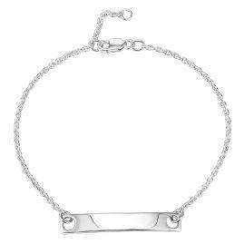 IUN Silver Couture AB003-WW Armband mit Gravurplatte Silber 925