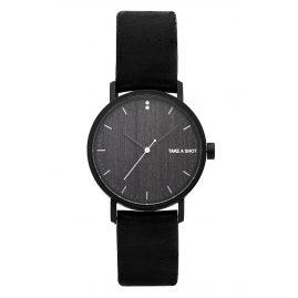 Take A Shot Lily Damen-Armbanduhr mit Holz-Zifferblatt