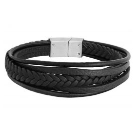 Xenox X2597B Men´s Leather Bracelet Black