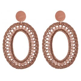Lott Gioielli CESI125-R28592 Ladies´ Earrings Silk Oval L