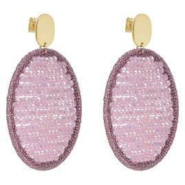 Lott Gioielli CESI103-G25871 Drop Earrings Silk Oval Abacus