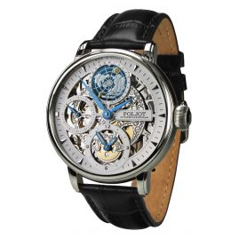 Poljot International 9730.2940551 Herrenuhr Double Timer Globetrotter