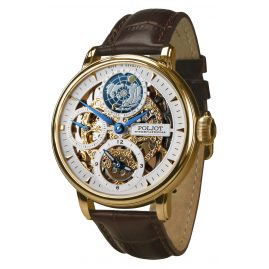 Poljot International 9730.2940651 Herren-Armbanduhr Double Timer Globetrotter