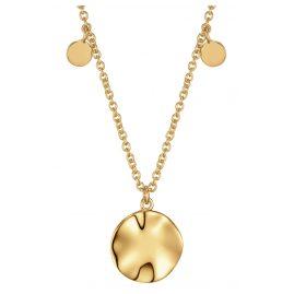 Ania Haie N007-04G Damen-Halskette Silber Goldplattiert Ripple Drop Discs