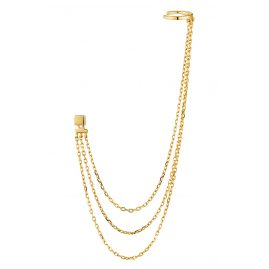 Ania Haie E013-02G Single-Ohrring für Damen Draping Swing