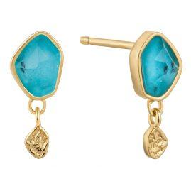 Ania Haie E014-01G Damen-Ohrstecker Ohrringe Turquoise Drop