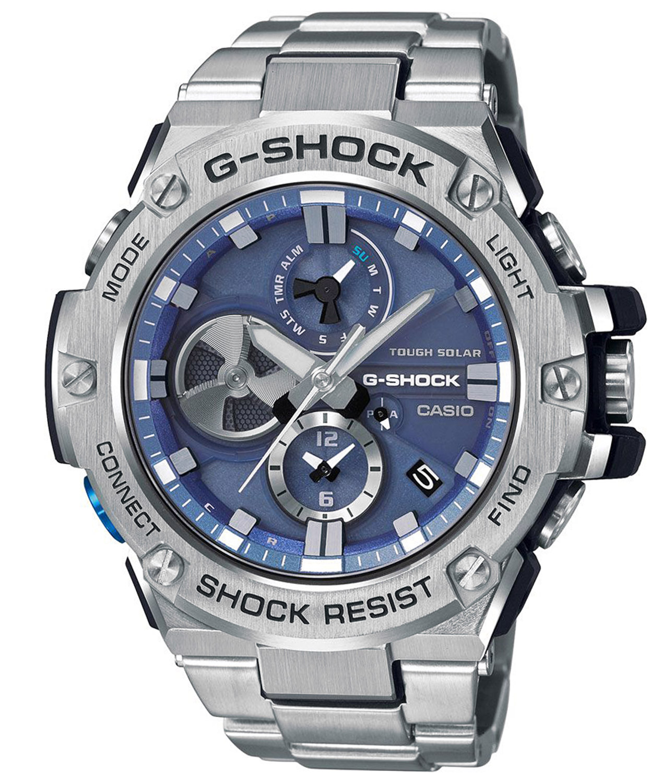 Casio G Shock G Steel Solar Men S Watch With Bluetooth Gst B100d 2aer