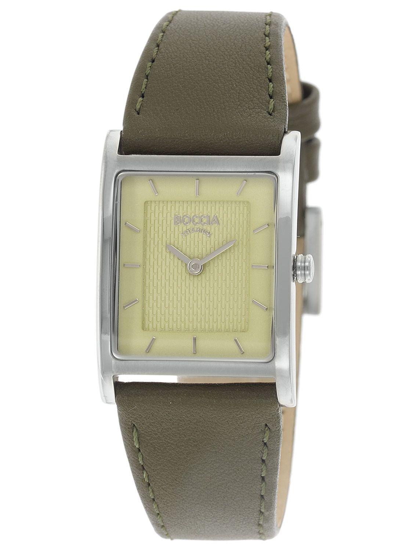 9c2ea2d73 Boccia 3294-02 Titanium Ladies' Wristwatch with Leather Strap Image ...