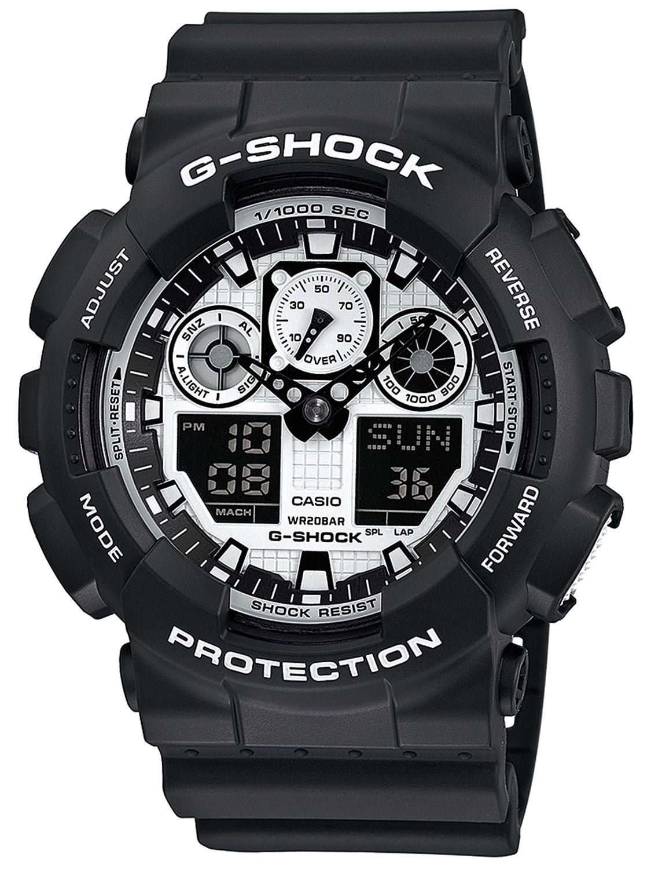 dc4ef52f2 Casio GA-100BW-1AER G-Shock Mens Wrist Watch Image 1 ...